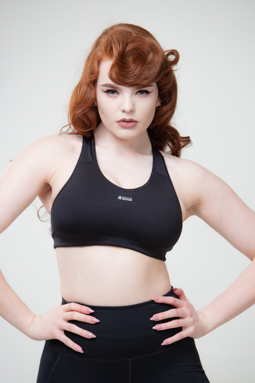 Shock Absorber Active Crop Top Mustat Urheilurintaliivit