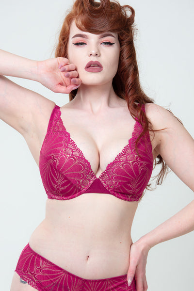 Refined Glamour Punaiset Triangle Push-up Rintaliivit