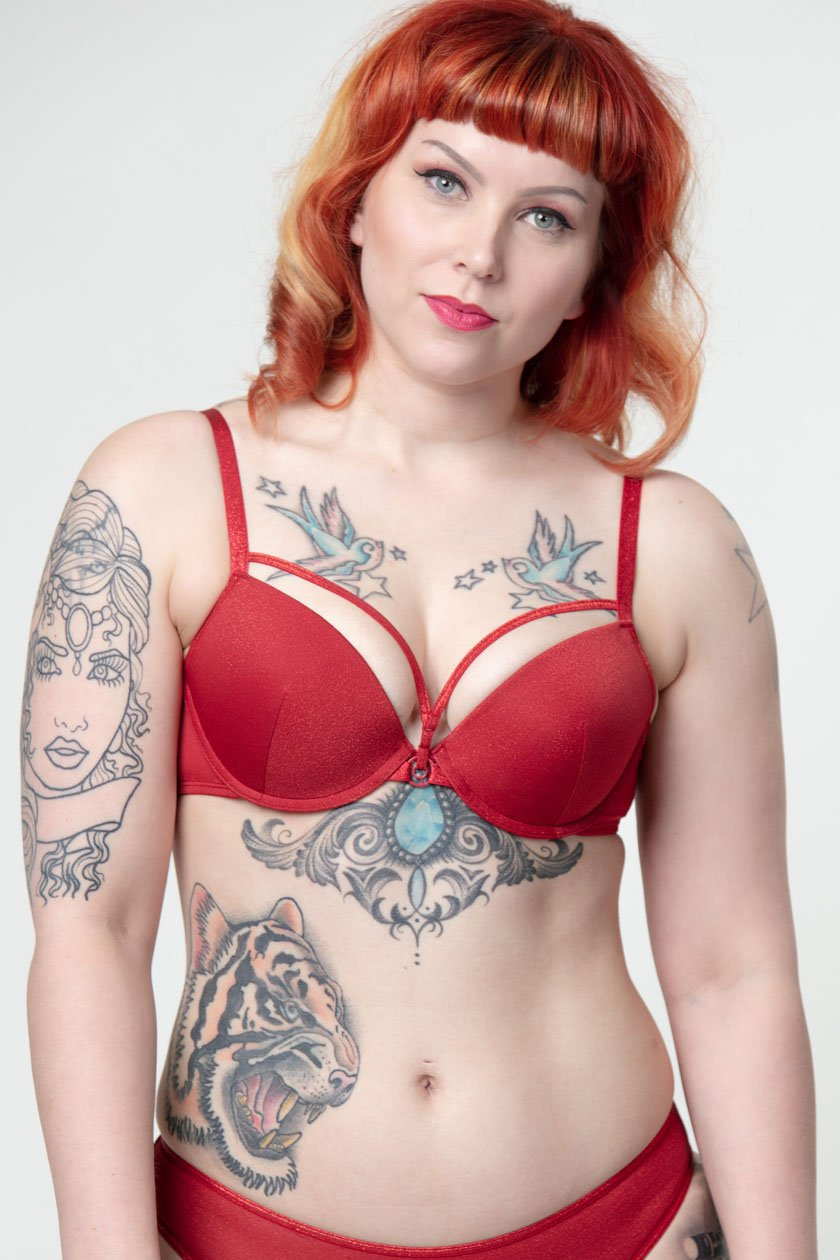 Marlies Dekkers Space Odyssey Punaiset Push-up Rintaliivit