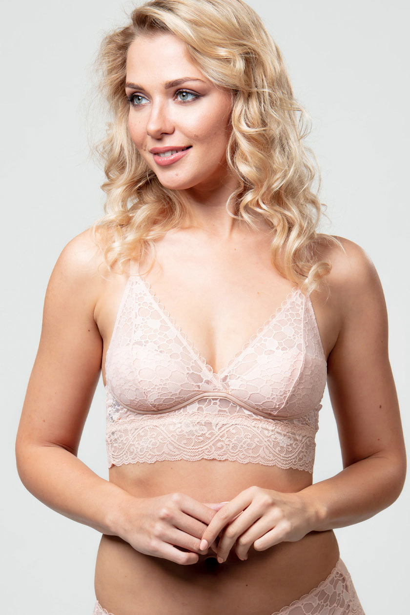 Triangle Push-up Bralette Bra Nude