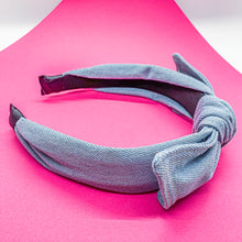 Load image into Gallery viewer, Denim Bow Headband