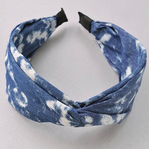 Tie Dye Denim Headband