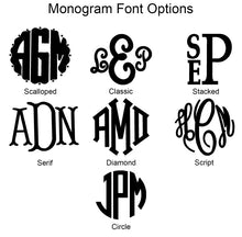 Load image into Gallery viewer, Monogram Make Up Bag