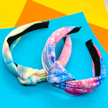 Load image into Gallery viewer, Tie Dye Velvet Knot Headband