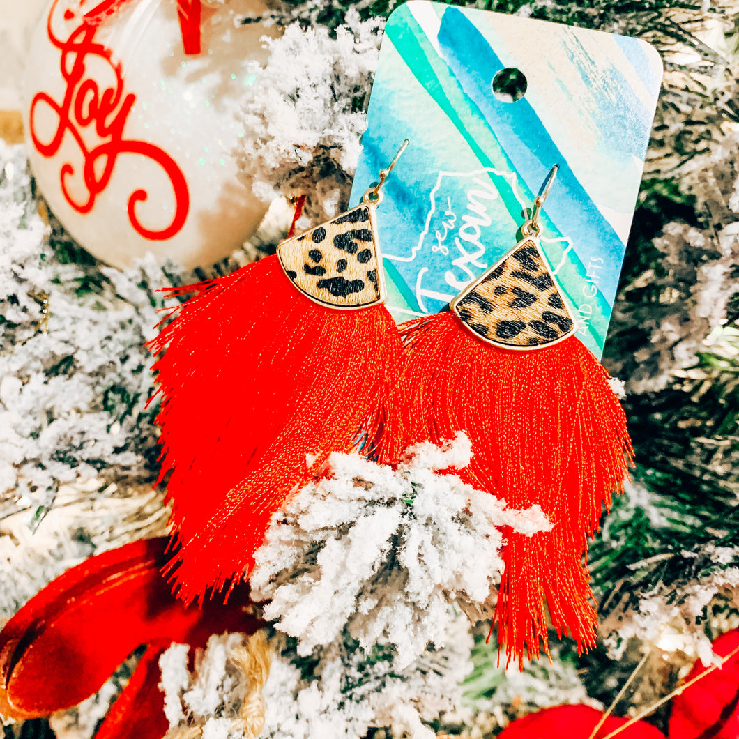 Christmas Cheetah Tassel