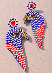 Patriotic Beaded Bird
