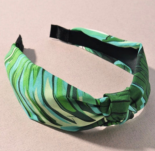 Summer Palm Print Headband