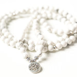 Natural White Howlite Mala
