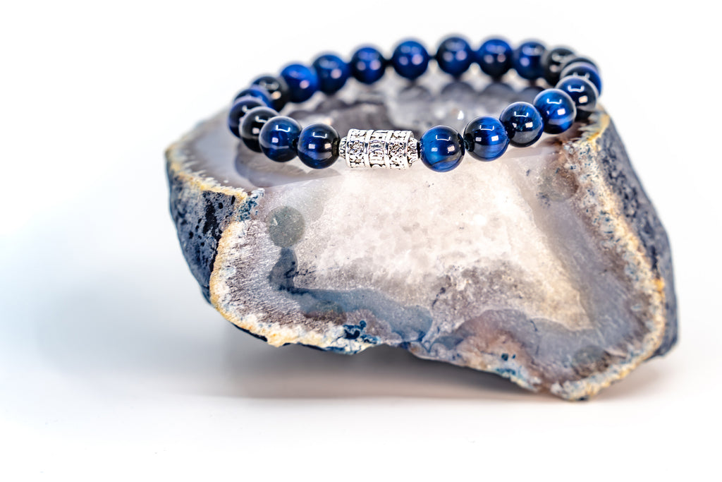 Blue Tiger's Eye Stone Bracelet