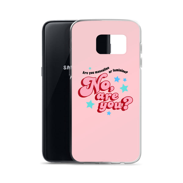 are you masculine or feminine - samsung case, pink
