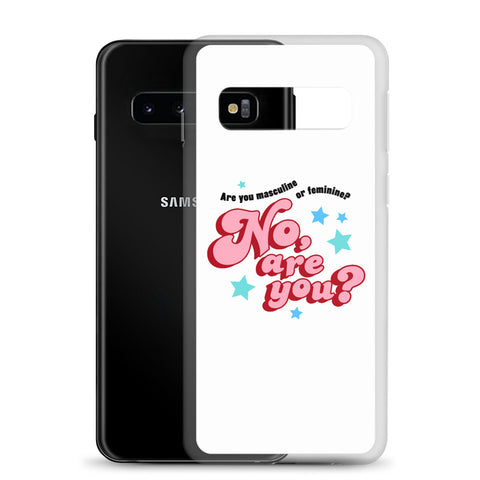 are you masculine or feminine - samsung case, white