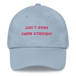 can't even think straight hat - baby blue