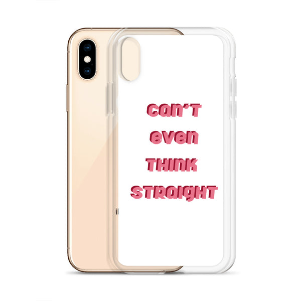 can't even think straight - iphone case, white