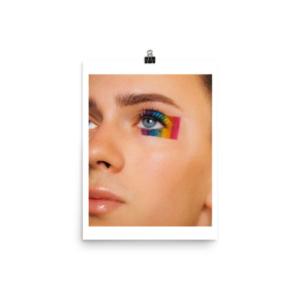 pride flag eye - print