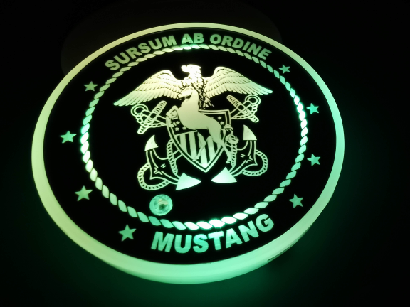 Navy Mustang LED Color Changing Car Cup Holder