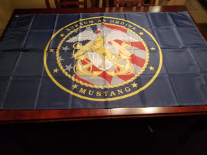 Custom Navy Mustang 3x5 ft for a flag pole