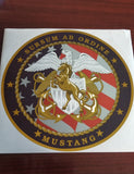 8 Inch U.S. Navy Mustang Sticker/Decal