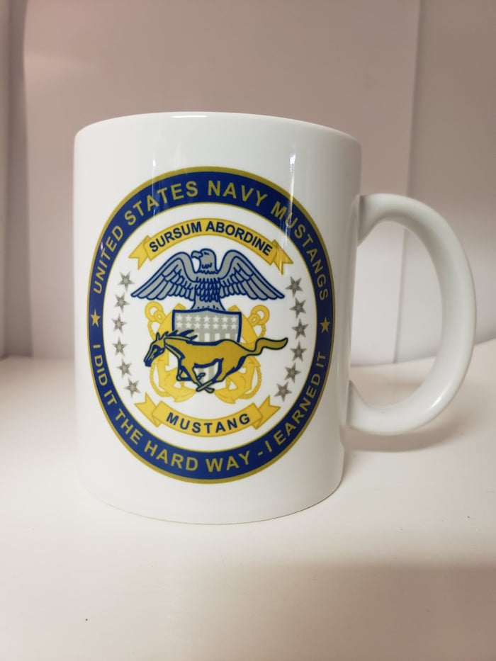 "U.S. Navy Mustang ""I Did It the Hard Way, I Earned It"" 11oz Coffee Cup"