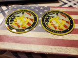 U.S. Navy Mustang Round Glass Coaster (Sets of Four and Sets of Two)