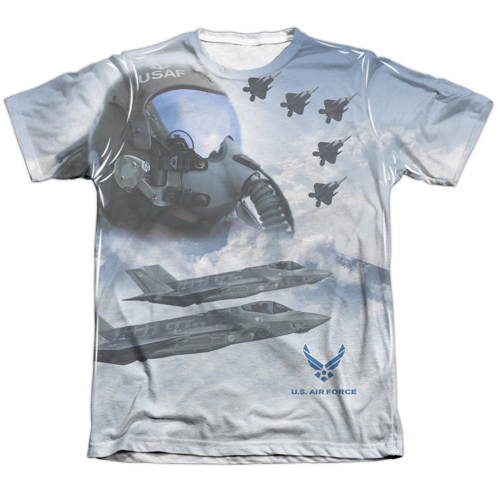 AIR FORCE/PILOT-ADULT POLY/COTTON S/S TEE-WHITE