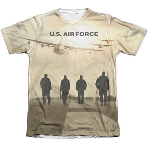 AIR FORCE/LONG WALK-ADULT POLY/COTTON S/S TEE-WHITE
