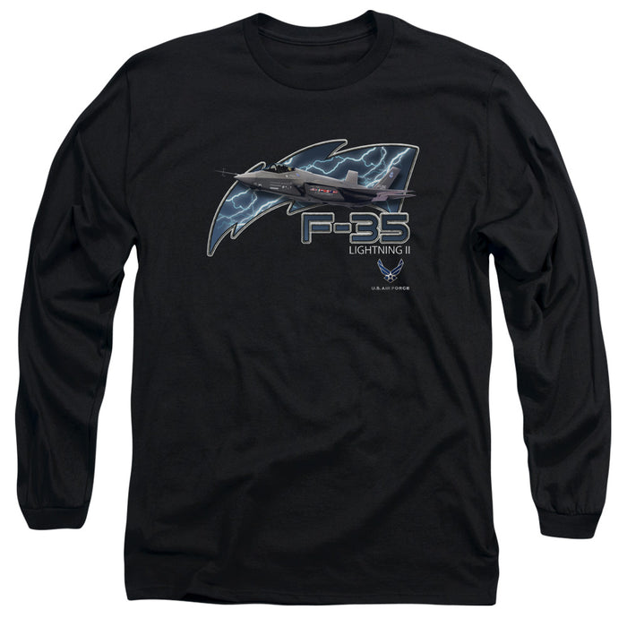 AIR FORCE/F35-L/S ADULT 18/1-BLACK