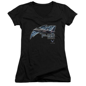 AIR FORCE/F35-JUNIOR V-NECK-BLACK