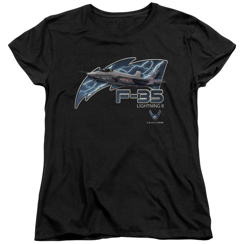 AIR FORCE/F35-S/S WOMENS TEE-BLACK