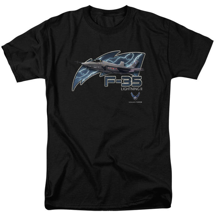 STICKER & SHIRT - AIR FORCE/F35-S/S ADULT 18/1-BLACK
