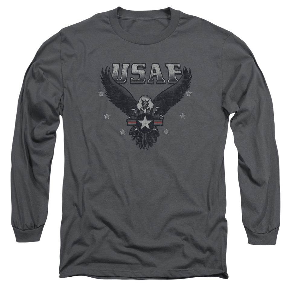 AIR FORCE/INCOMING-L/S ADULT 18/1-CHARCOAL
