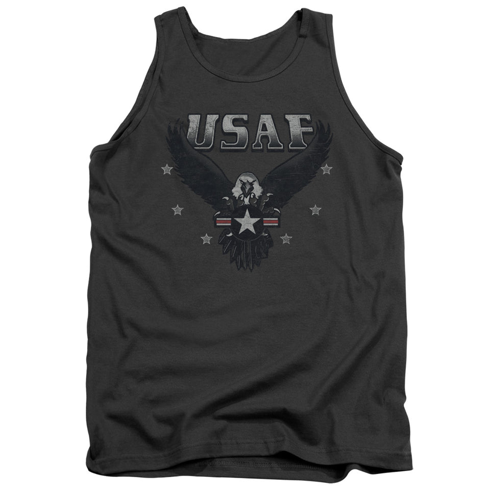 AIR FORCE/INCOMING-ADULT TANK-CHARCOAL