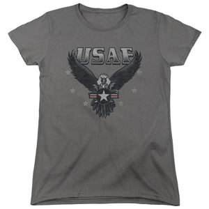 AIR FORCE/INCOMING-S/S WOMENS TEE-CHARCOAL