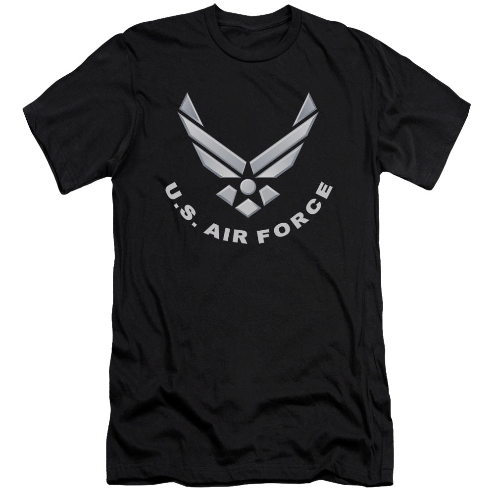 AIR FORCE/LOGO-S/S ADULT 30/1-BLACK