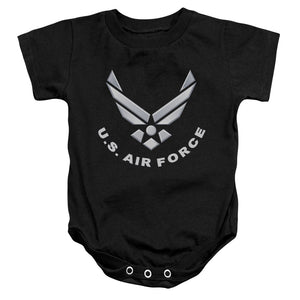 AIR FORCE/LOGO-INFANT SNAPSUIT-BLACK