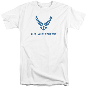 AIR FORCE/DISTRESSED LOGO-S/S ADULT TALL-WHITE