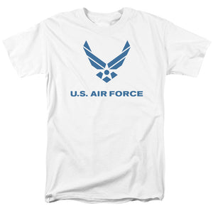 AIR FORCE/DISTRESSED LOGO-S/S ADULT 18/1-WHITE