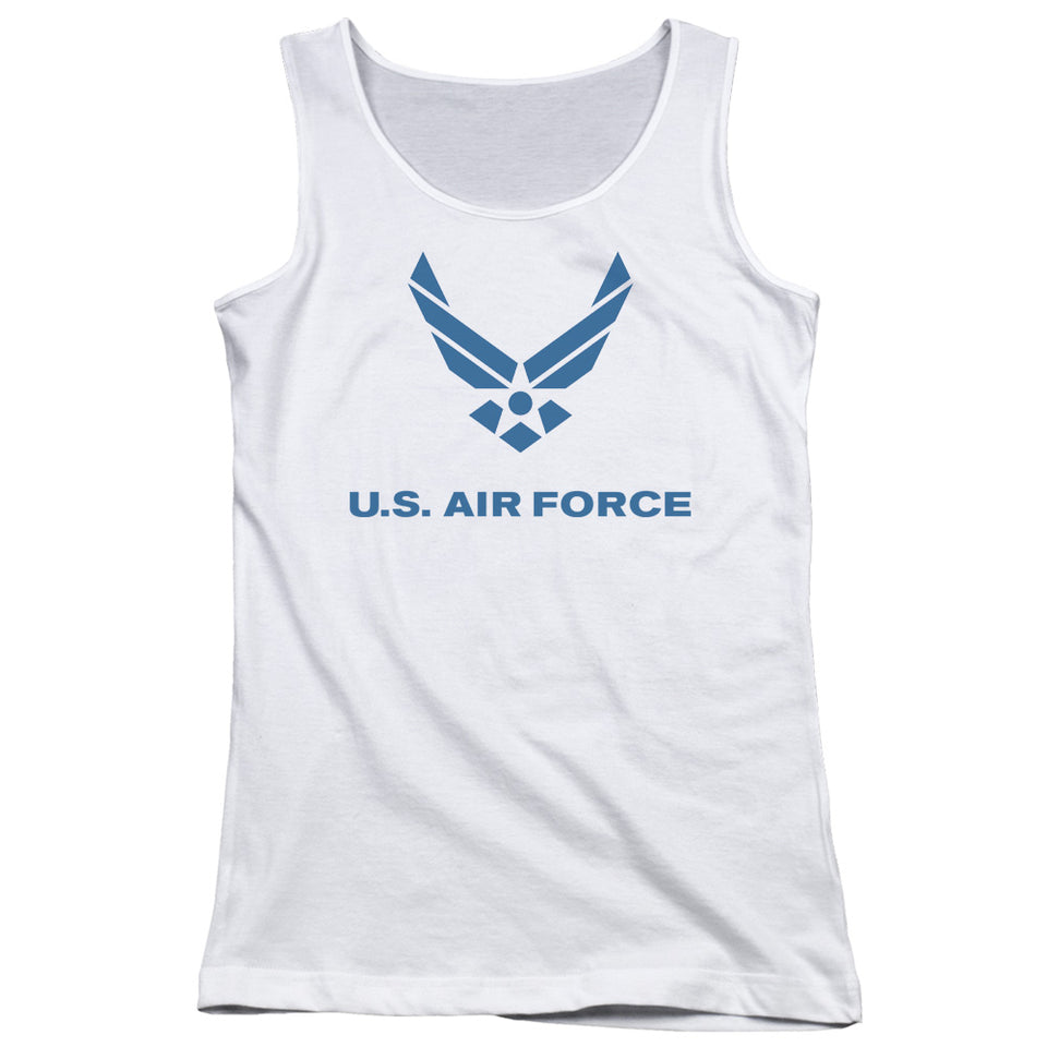 AIR FORCE/DISTRESSED LOGO - JUNIORS TANK TOP - WHITE