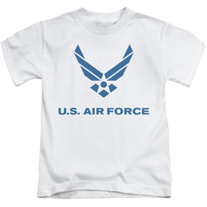AIR FORCE/DISTRESSED LOGO-S/S JUVENILE 18/1-WHITE