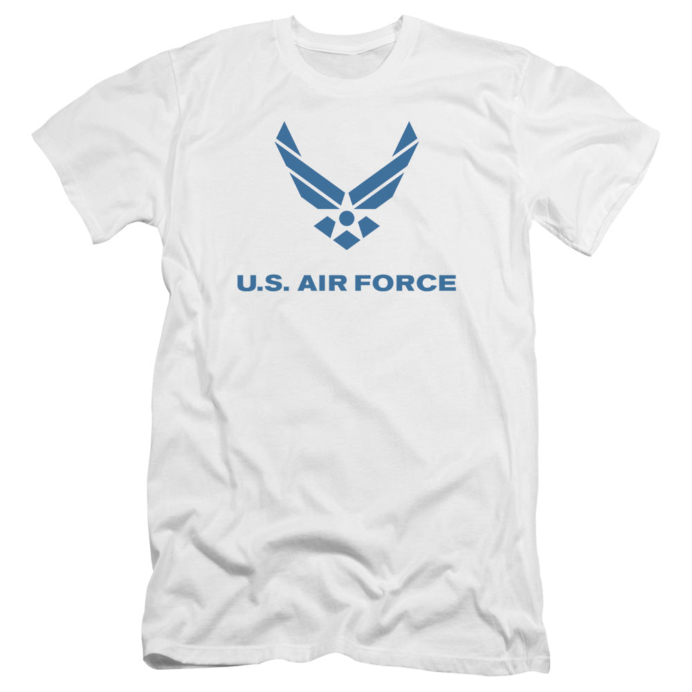 AIR FORCE/DISTRESSED LOGO-PREMUIM CANVAS ADULT SLIM FIT 30/1-WHITE