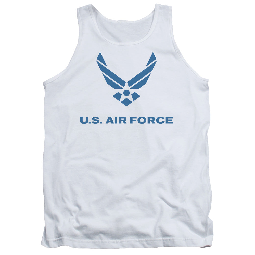 AIR FORCE/DISTRESSED LOGO-ADULT TANK-WHITE