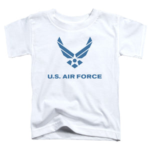 AIR FORCE/DISTRESSED LOGO-S/S TODDLER TEE-WHITE
