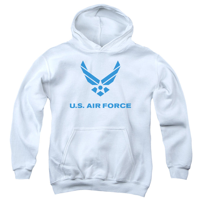 AIR FORCE/DISTRESSED LOGO-YOUTH PULL-OVER HOODIE - WHITE