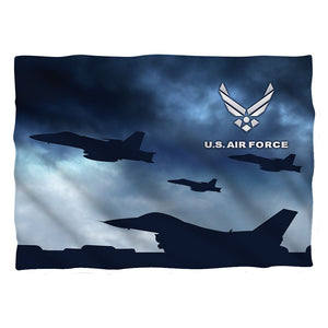 AIR FORCE/TAKE OFF-PILLOW CASE-WHITE-ONE SIZE