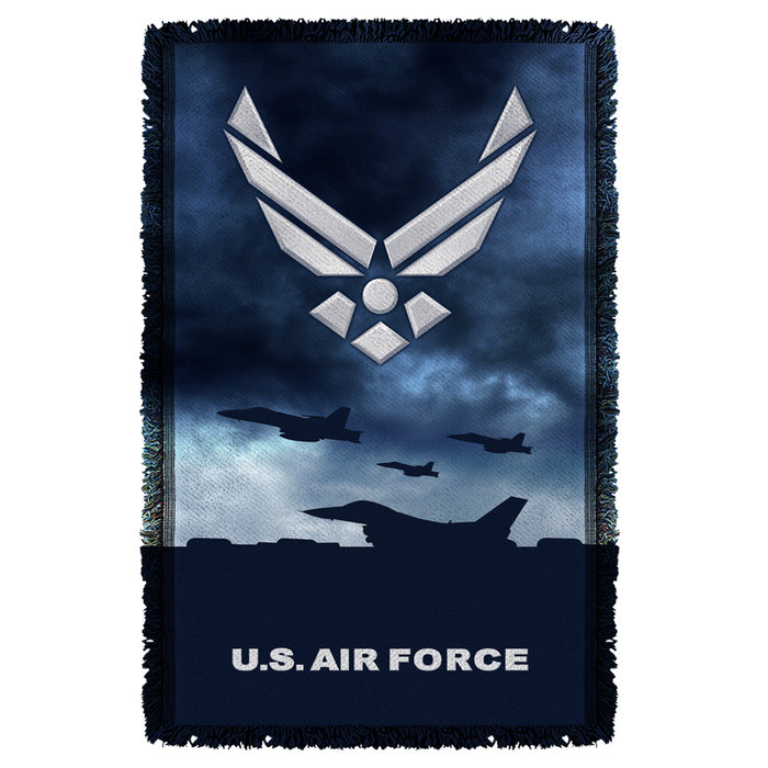 AIR FORCE/TAKE OFF-WOVEN THROW-WHITE-