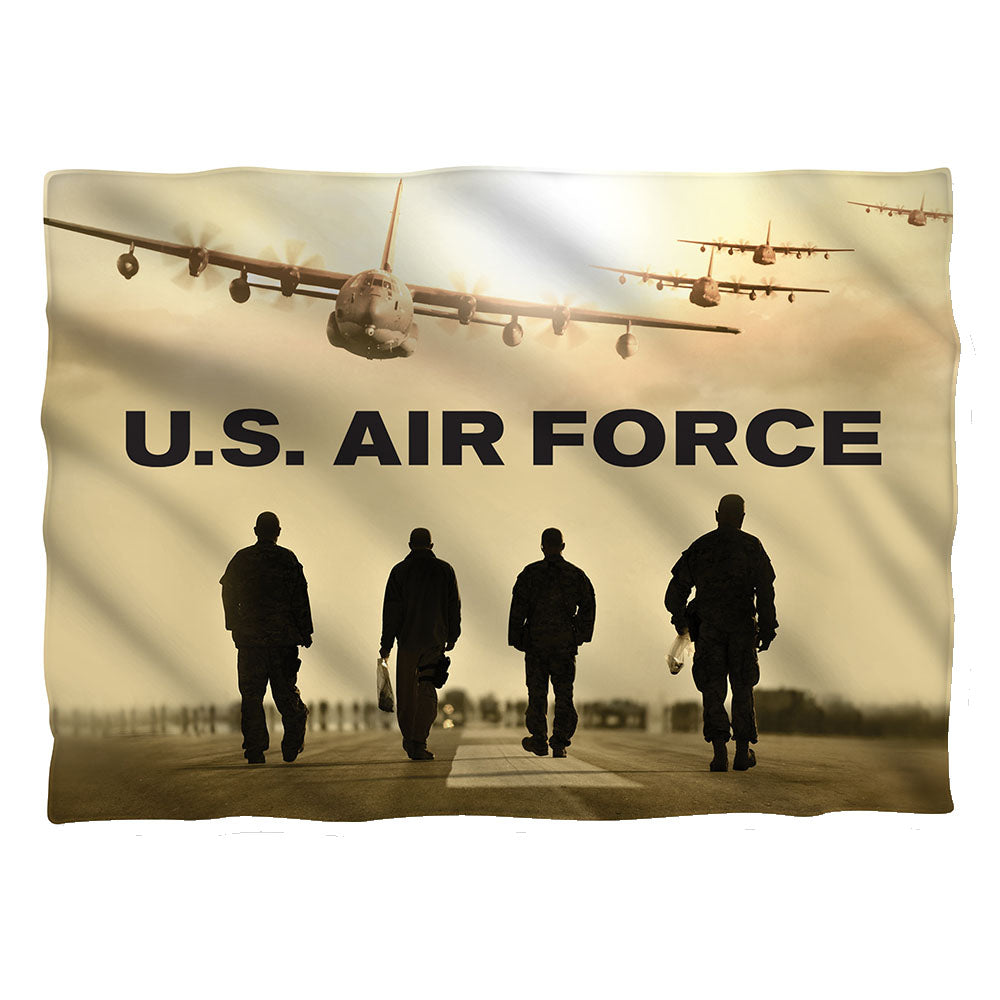 AIR FORCE/LONG WALK-PILLOW CASE-WHITE-ONE SIZE