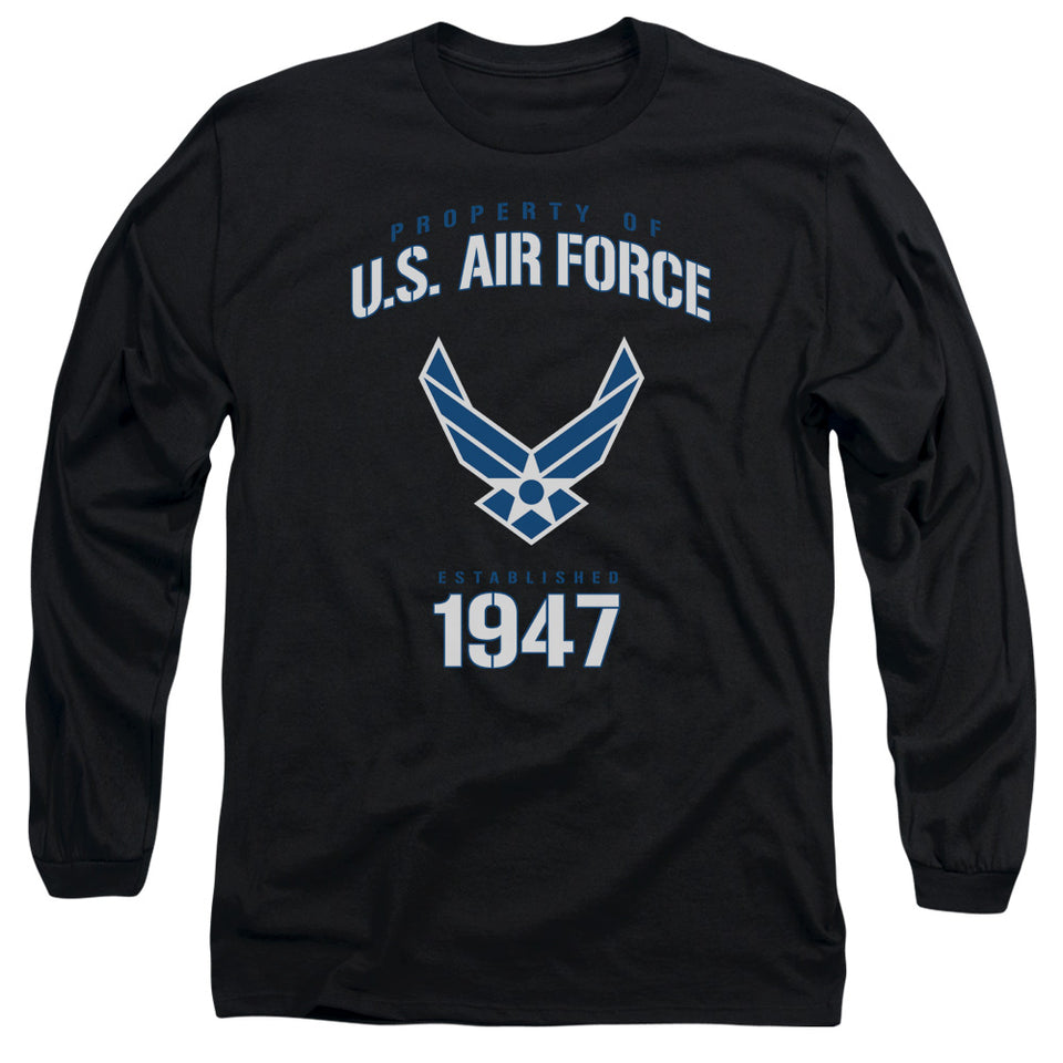 AIR FORCE/PROPERTY OF-L/S ADULT 18/1-BLACK
