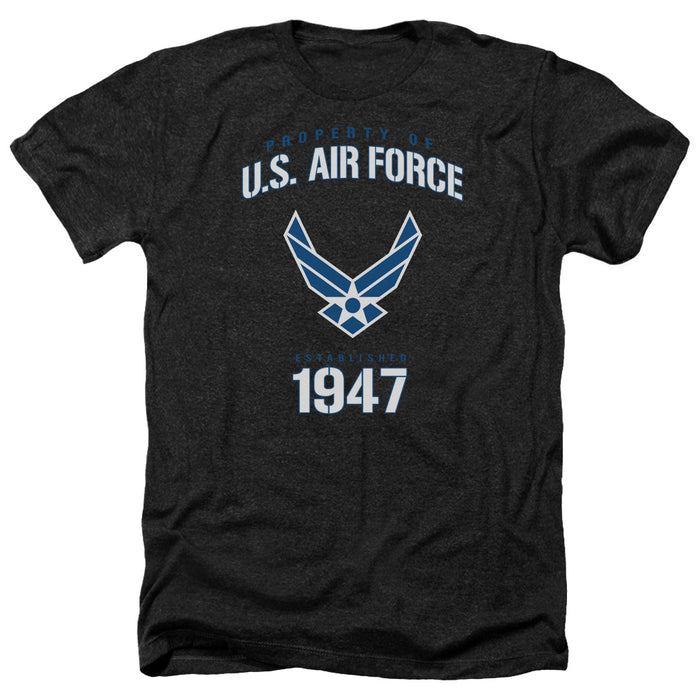AIR FORCE/PROPERTY OF-ADULT HEATHER-BLACK
