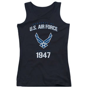 AIR FORCE/PROPERTY OF - JUNIORS TANK TOP - BLACK