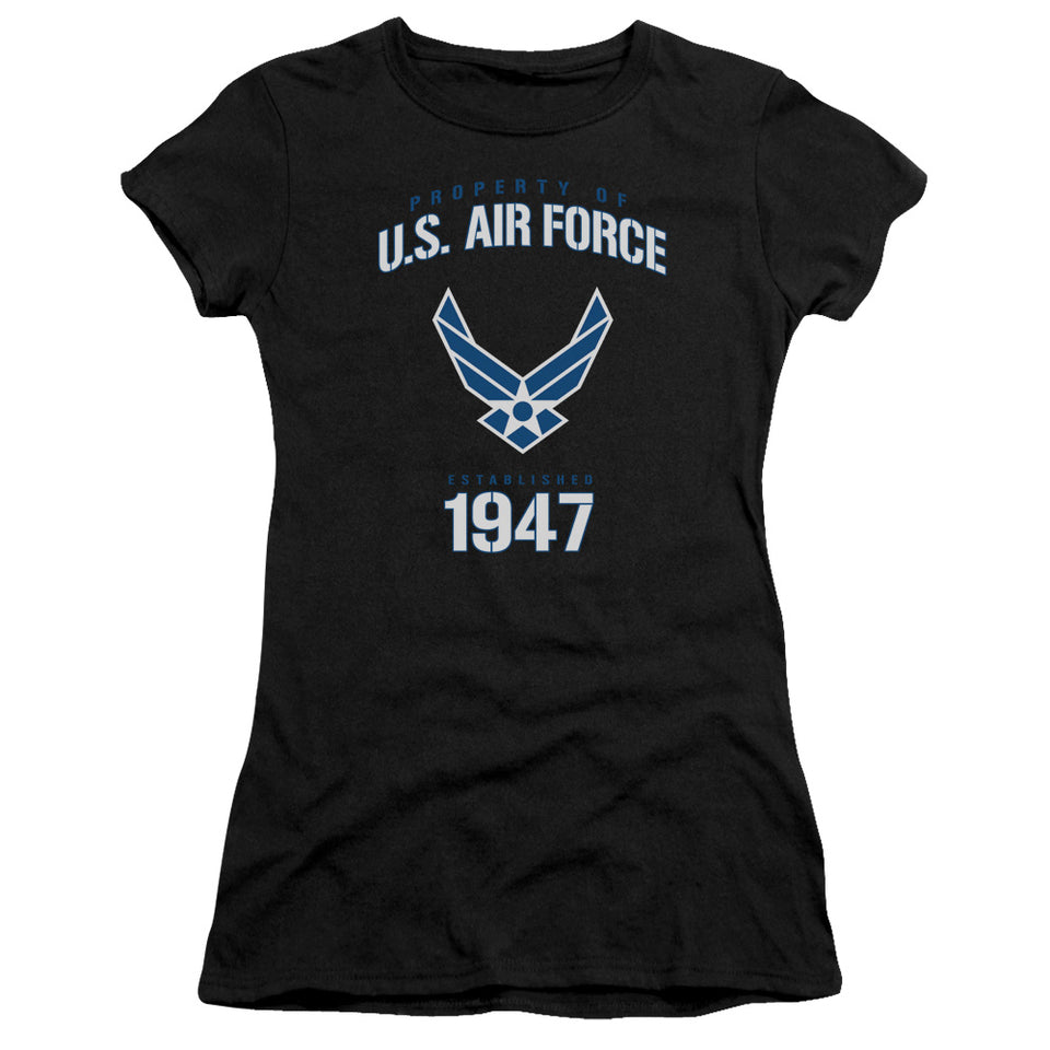 AIR FORCE/PROPERTY OF-PREMIUM BELLA JUNIOR SHEER JERSEY-BLACK