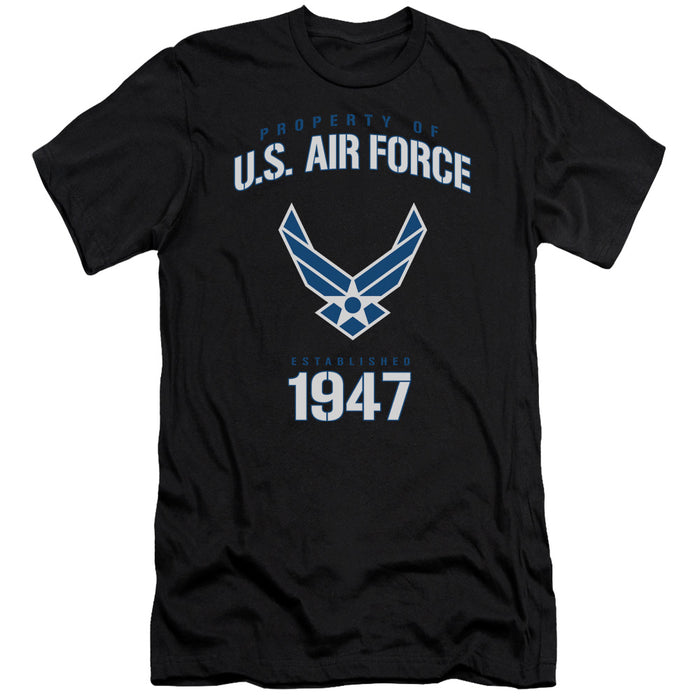 AIR FORCE/PROPERTY OF-S/S ADULT 30/1-BLACK